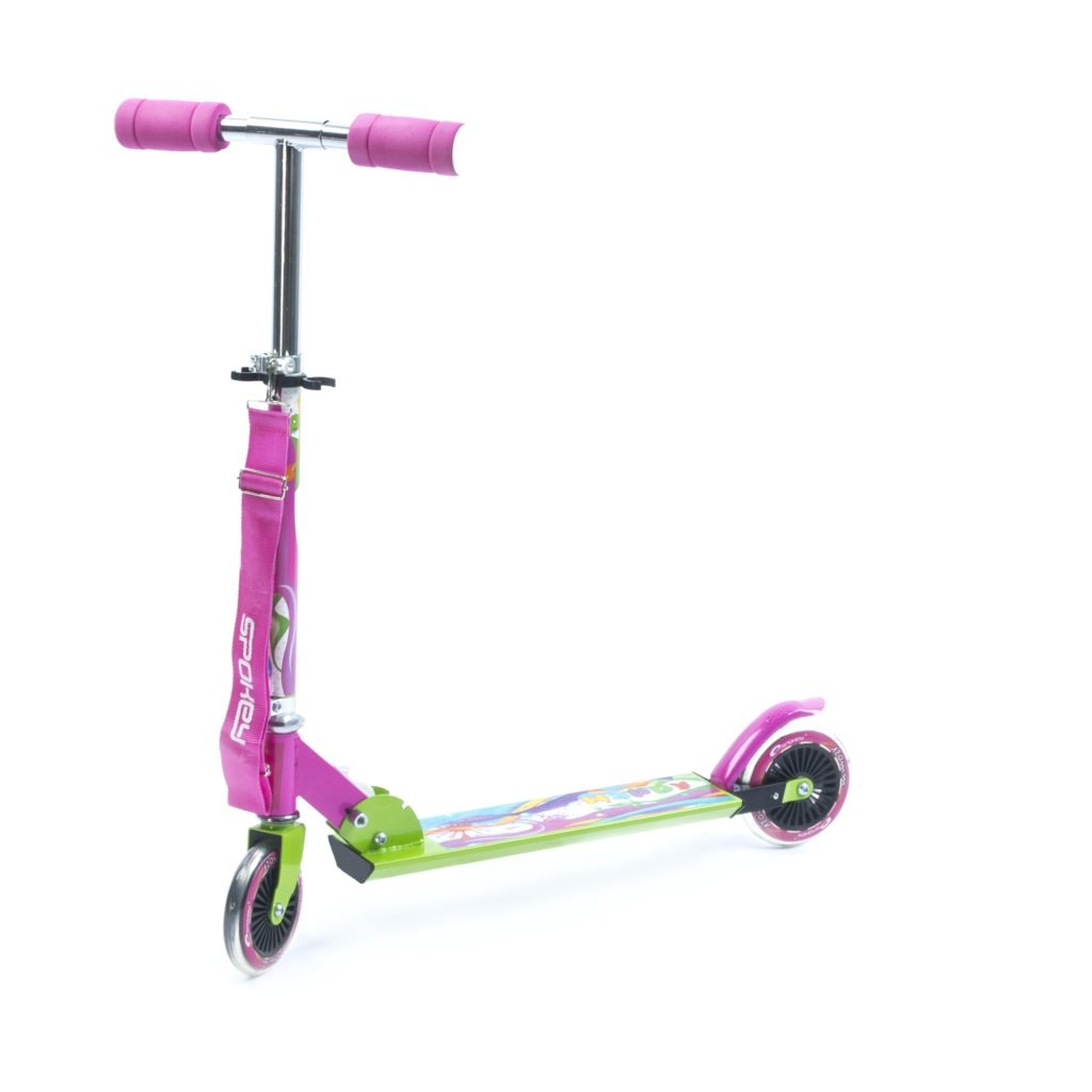 Spokey Happy Scooter 120 mm Pink / Green