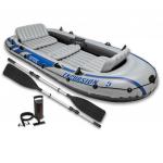 Intex Excursion 5 komplektas, pripučiama valtis su irklais ir pompa