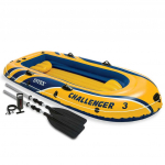Intex Challenger 3 Pripučiama valtis su irklais ir pompa, 68370NP