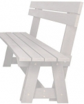 Folkland Timber Riva Bench with Backrest White