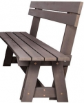 Folkland Timber Riva Bench with Backrest Graphite
