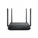 Asus RT-AC57U AC1200 Dual Band WiFi Router with four external antennas and Paren..