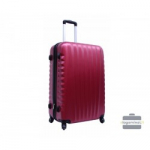 Vidutinis plastikinis lagaminas Gravitt 888-V Tamsiai raudonas